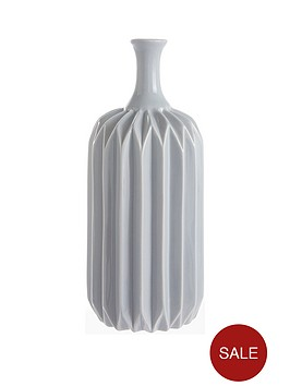 grey-faceted-vase