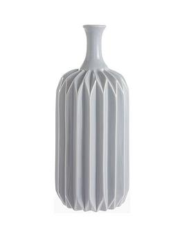 Very Grey Faceted Vase Picture