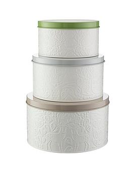 Mason Cash Mason Cash In The Forest &Ndash; Set Of 3 Cake Tins Picture