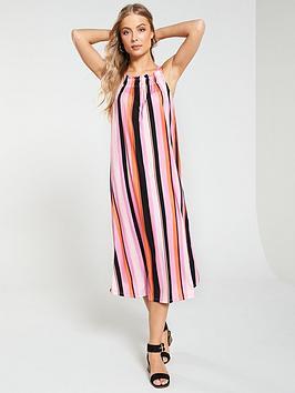 v-by-very-shirred-strap-volume-dress-stripe