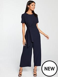 warehouse-knot-side-jumpsuit-navynbsp