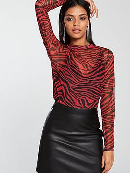 v-by-very-turtleneck-mesh-top-printednbsp
