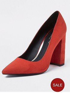 river-island-river-island-wide-fit-block-heel-court-shoe-red