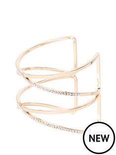 river-island-diamante-cuff-bracelet-gold
