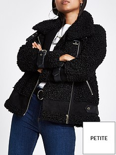 river-island-faux-shearling-aviator-jacket-black