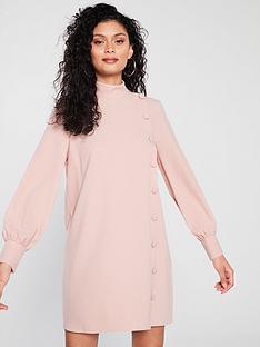 river-island-river-island-button-detail-swing-dress-pale-pink