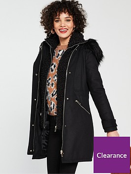 river-island-river-island-double-layer-hooded-parka-black