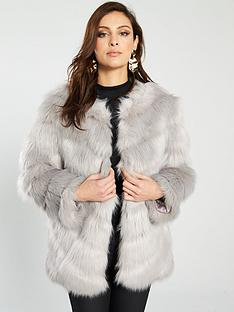 river-island-faux-fur-panel-coat-grey