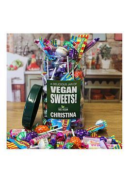 Very Personalised Vegan Sweet Jar Picture