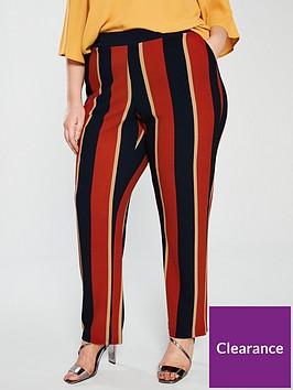 junarose-curve-daisi-stripe-pants-red