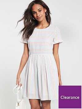 vero-moda-oversized-t-shirt-dress-with-multi-stripe-white