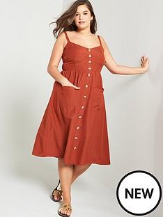 junarose-lobe-strappy-midi-dress-brown