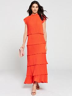 yas-pleated-tiered-maxi-dress-red