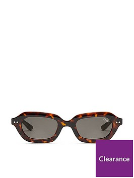 5a4dabfaa1 QUAY AUSTRALIA Quay X Finders Keepers Anything Goes Rectangle Sunglasses -  Tortoiseshell