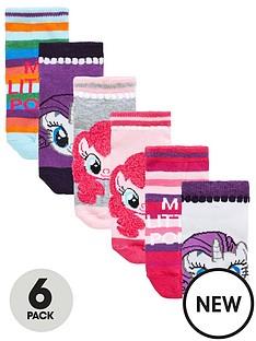 my-little-pony-my-little-pony-girls-trainer-liner-6pk-socks