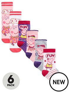 peppa-pig-girls-6pk-socks