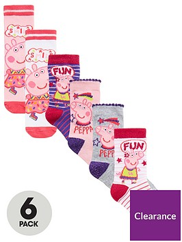 peppa-pig-girls-6pk-socks