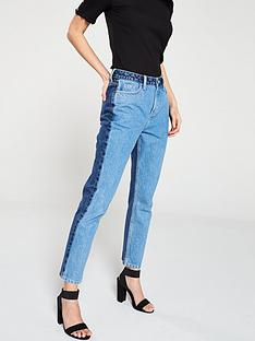v-by-very-colour-block-straight-leg-jeans