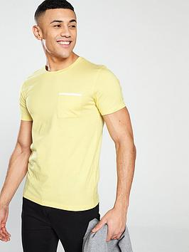 selected-homme-poe-pocket-detail-t-shirt-yellow