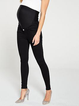 V by Very V By Very Maternity Over The Bump Skinny - Black Picture