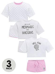 v-by-very-girls-3-pack-mermaids-and-unicorns-jersey-short-pyjamas-multi