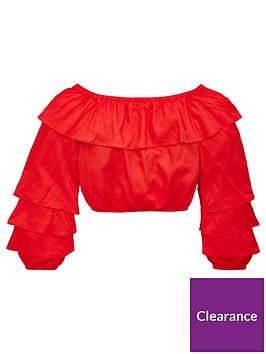 v-by-very-girls-ruffle-bardotnbsptop-red
