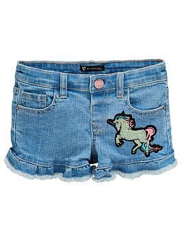 mini-v-by-very-girls-sequin-unicorn-and-star-denim-shorts-blue