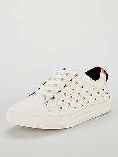 kurt-geiger-london-ludo-stud-trainer-whitenbsp