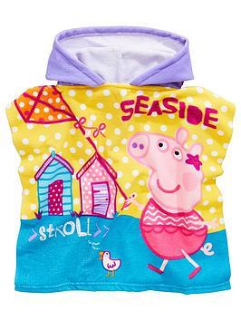 peppa-pig-girls-hooded-poncho-multi
