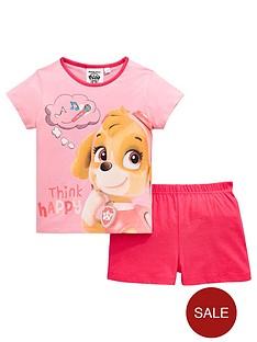 paw-patrol-girls-skye-shorty-pyjamas-pink