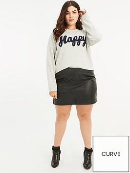 oasis-curve-faux-leather-mini-skirt