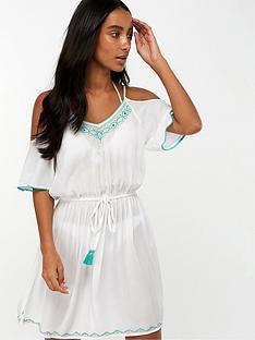 accessorize-riviera-trim-cold-shoulder-dress-white