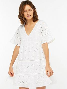 Accessorize   Schiffli Cutwork Dress - White