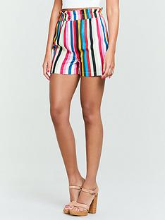 michelle-keegan-high-waist-co-ord-shorts-stripe