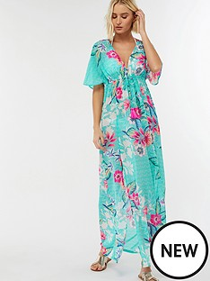 accessorize-riviera-floral-maxi-kaftannbsp--aqua