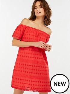 accessorize-off-shoulder-schiffli-dress-red