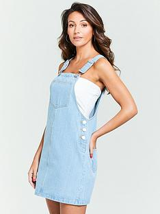 a91bee7b5e Michelle Keegan Denim Pinafore Dress - Light Wash