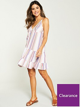 v-by-very-stripe-beach-dress-multi