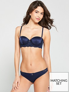 fa5ecb8d2b B By Ted Baker Geo Jacquard Hipster Brazilian Brief - Navy