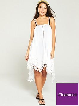 v-by-very-hanky-hem-lace-trim-strappynbspbeach-dress-white