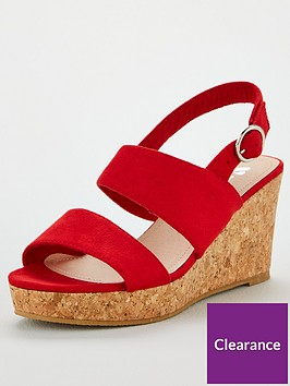 v-by-very-giselle-wide-fit-double-strap-wedge-sandals-red
