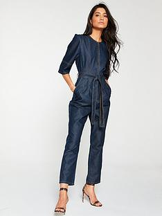 v-by-very-denim-tencil-jumpsuit-dark-wash