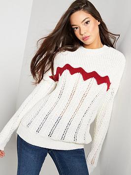 v-by-very-chevron-stitch-detail-jumper