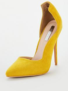 lost-ink-coco-high-counter-cut-court-shoes-yellow
