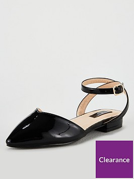 lost-ink-wide-fit-kim-ballerina-with-ankle-strap-black