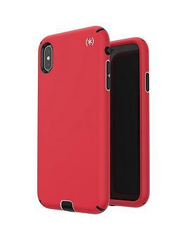 speck-presidio-sport-case-for-iphone-xs-max--nbspheartrate-redsidewalk-greyblack