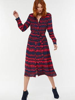monsoon-lizzie-print-shirt-dress-red
