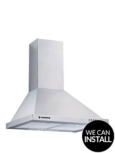 hoover-hce160x-60cm-chimney-hood-with-optional-installation-stainless-steel
