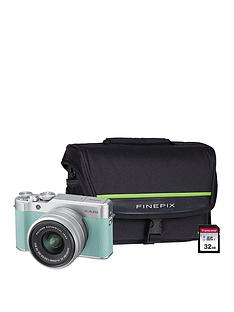 fujifilm-x-a20nbspcamera-with-xc-15-45mm-silver-lens-kit-and-optional-bundle--nbspmint-green