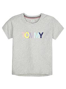 tommy-hilfiger-girls-short-sleeve-colour-logo-t-shirt-grey